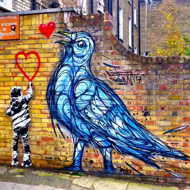 There is some fantastic street art around Camden Market ashellip