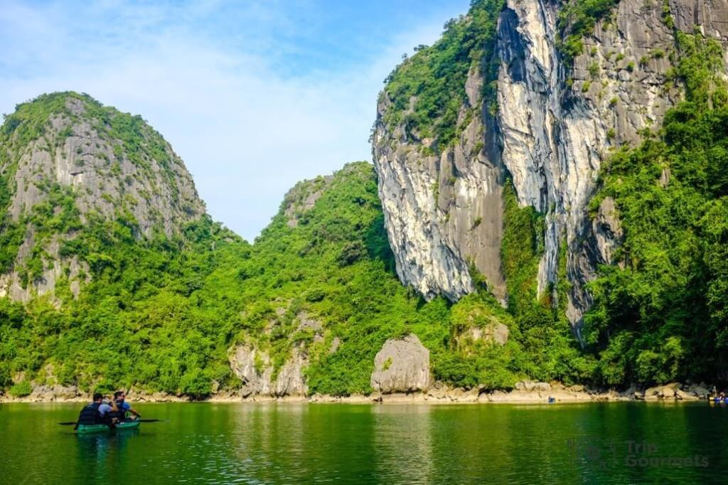 Halong bay cruise review lagoon kayak lush island
