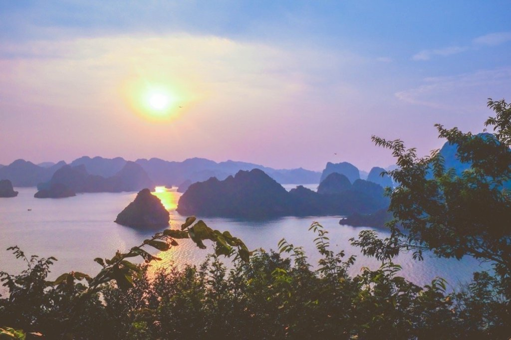 Halong bay cruise review view sunset titop