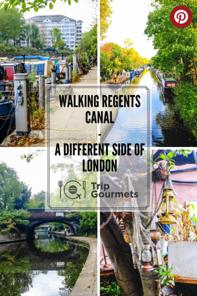 Tripgourmets Walking Regents Canal Pinterest Pin