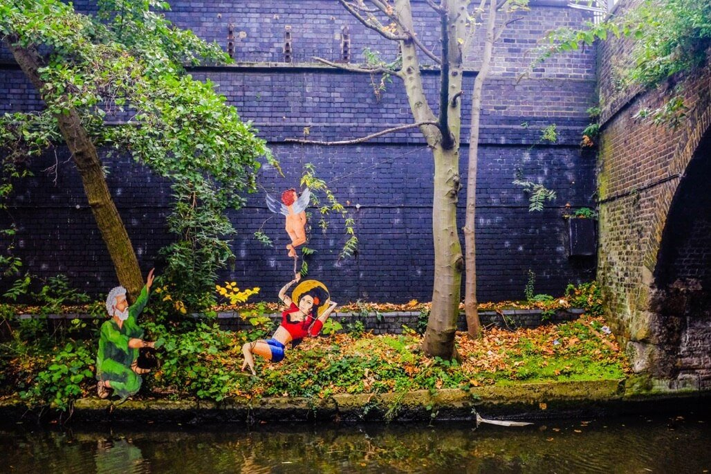 Tripgourmets Walking Regents Canal Street Art Amy Winehouse Angel