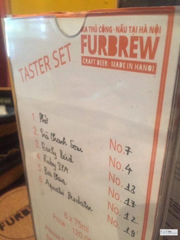 Food in Hanoi Old Quarter fur brew hanoi taste set menu