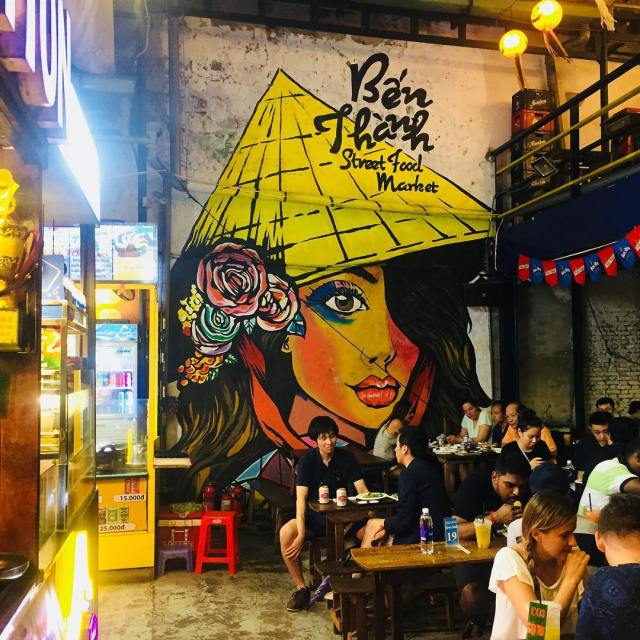 We found this cool street art at the Saigon Streethellip