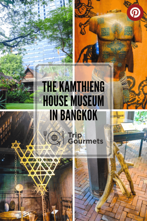 Kamthieng House Sukhumvit Bangkok traditional Lanna building pinterest pin