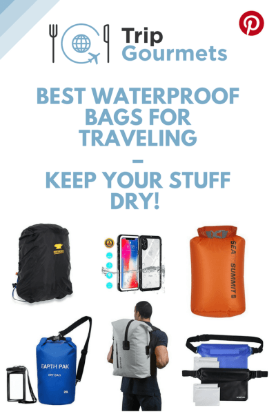 best waterproof bags for traveling pinterest pin