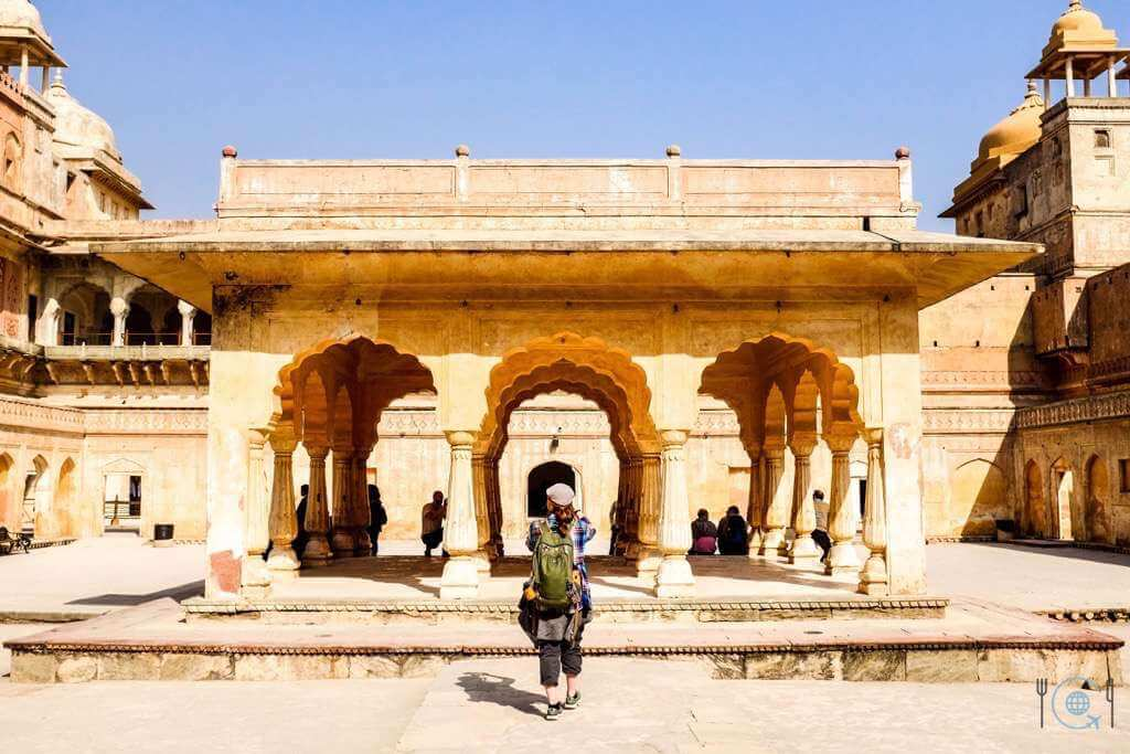Jaipur itinerary Fourth courtyard of Amer Fort