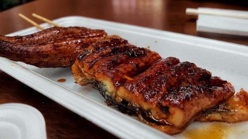 best street food in asia unagi no kabayaki