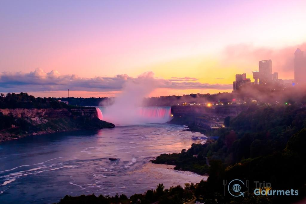 Things to do in Niagara Falls for couples - illuminated falls