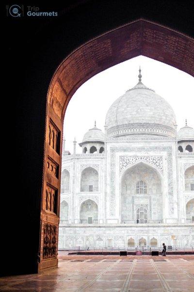 Taj Mahal Sunrise Tour from Delhi - View from the Kau Ban Mosque