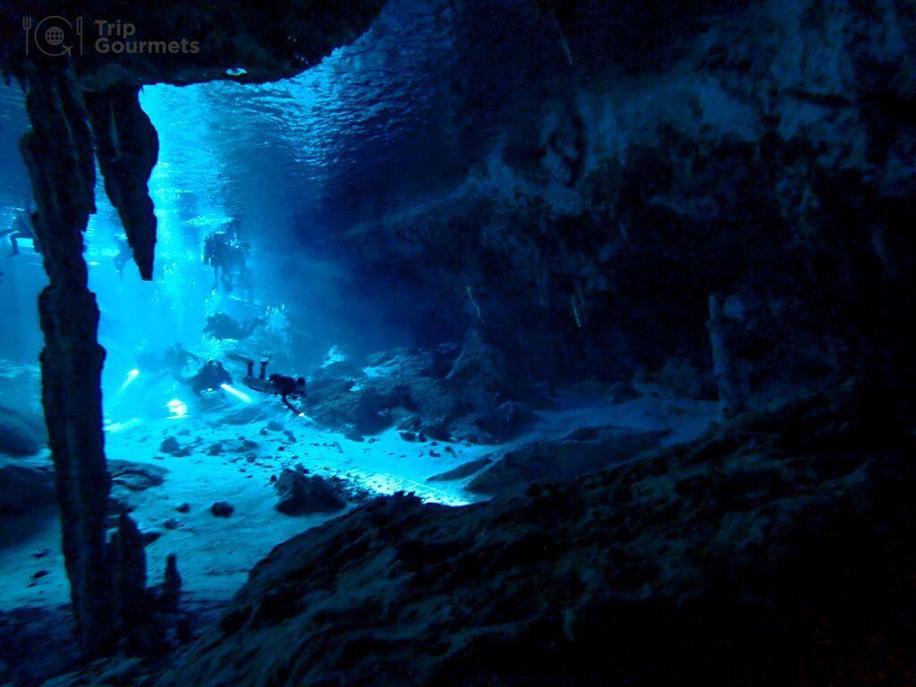 Best cameras for diving - Cenote Dos Ojos