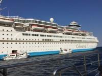 Vista lateral del crucero