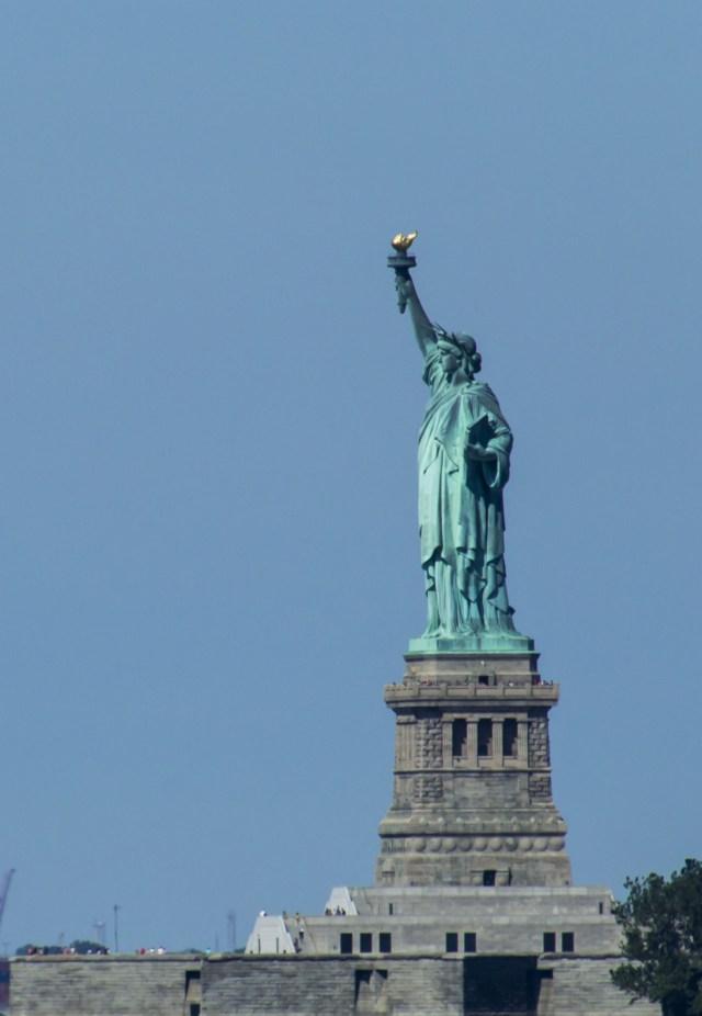 Estatua de la Libertad de perfil