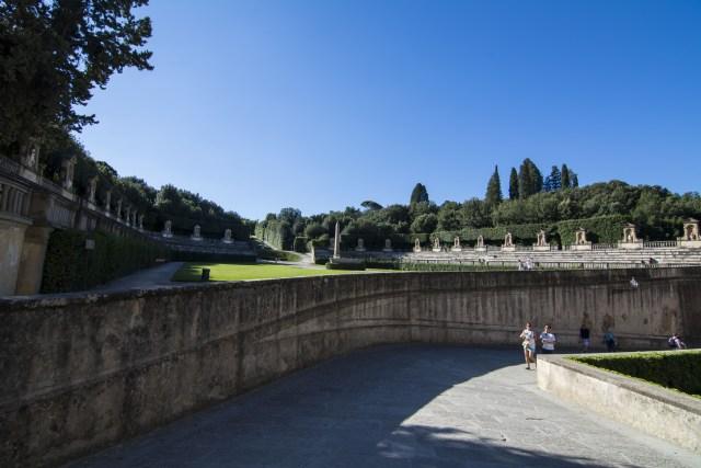 camino a jardines Anfiteatro Boboli Pitti