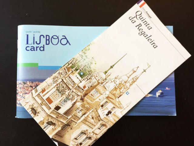 Lisboa Card y mapa Quinta da Regaleira