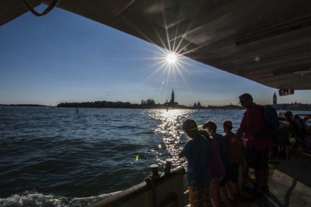 Vista desde el vaporetto Venecia
