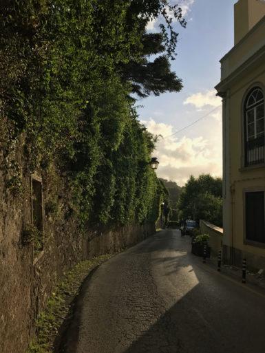 Ruta hacia el palacio da Pena en Sintra