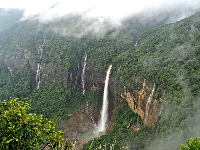 View of Lodh Falls from a distance