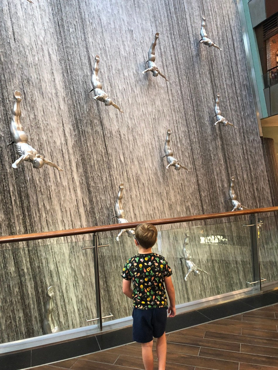 Admiring the fountain at the Dubai Mall