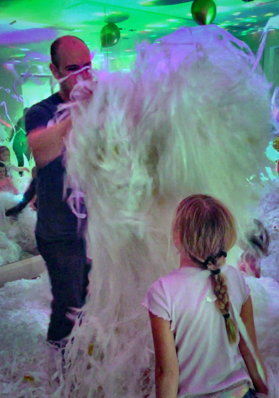 A 'paper foam' party based in Gibraltar
