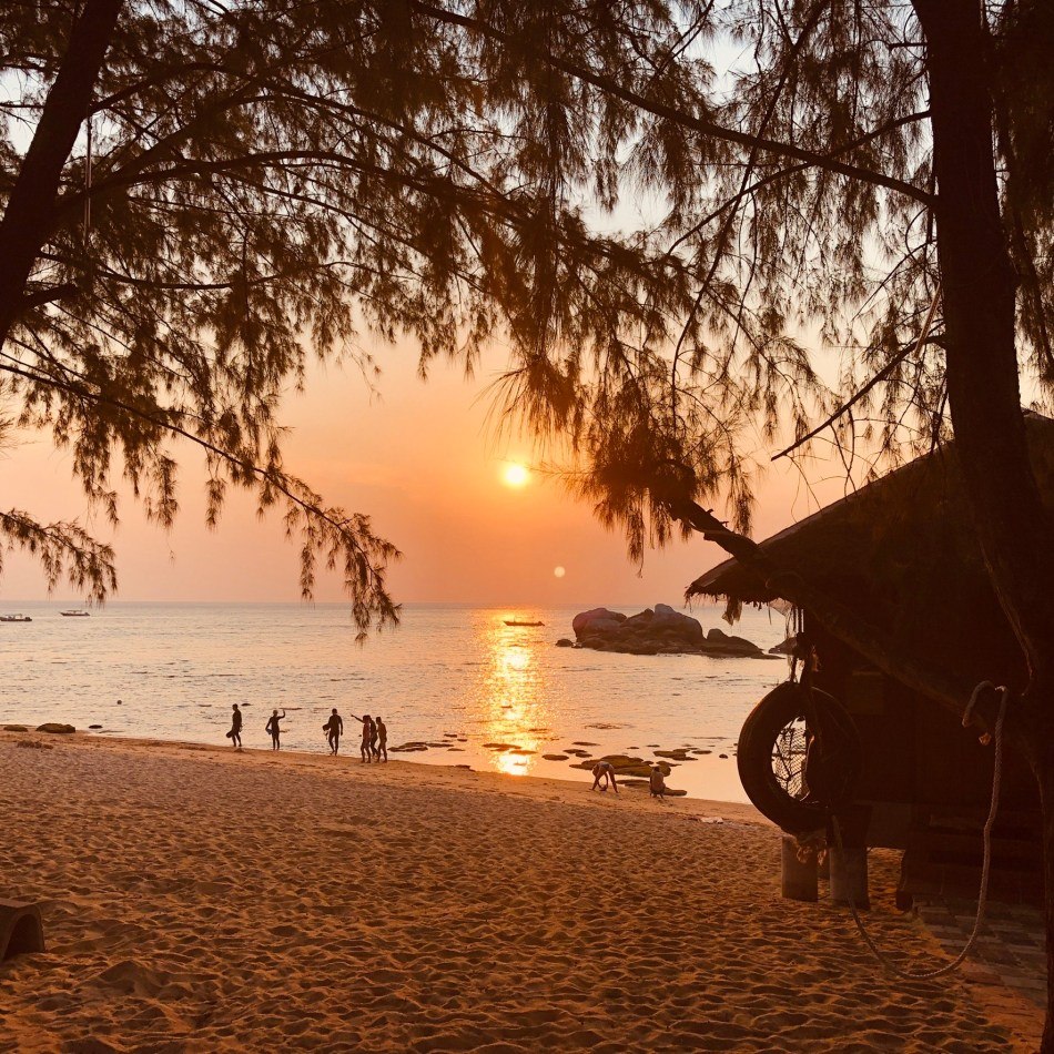View from deluxe bungalow at Paya Beach resort, Tioman Island