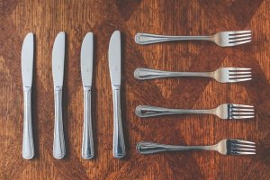 Four knives and four forks
