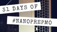 31 Days of NaNoPrepMo