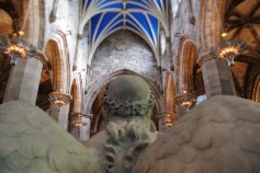 An angel in St Giles's Cathedral.