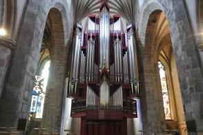 St Giles's giant organ.