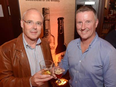 No Reproduction Fee Dave Quinn, Master of Whiskey Science, Jameson and Shane Long, Founder Franciscan Well Brewery, pictured at the launch of the Franciscan Well Jameson-Aged Pale Ale. Pic John Sheehan Photography