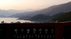 View of the Lake from my balcony, Pokhara