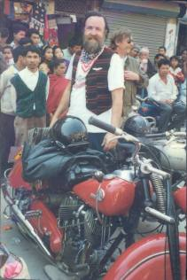 Charles and his 1948 Indian