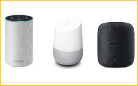 Amazon Alexa and Google home and Apple Homepod