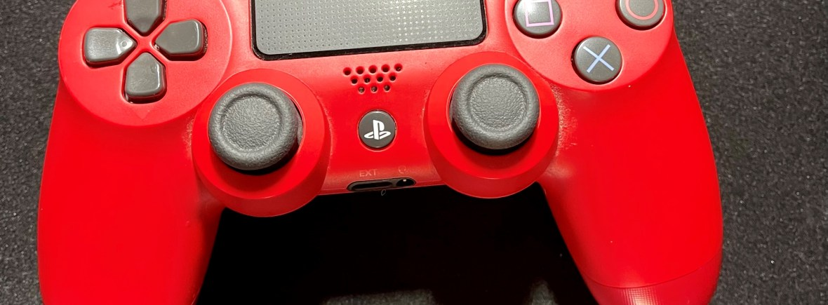 PlayStation 4 controller Red and Black