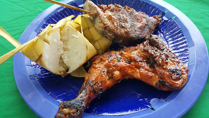 雞肉,魚,硬米飯