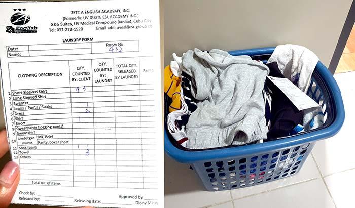 洗衣服單子, Laundry Form , UV 洗衣單填寫方式, 一週洗幾次, 怎麼洗