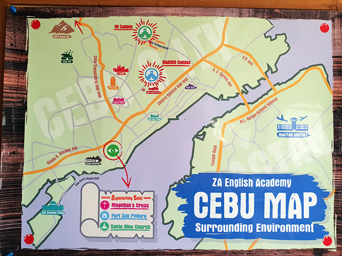 CeBU MAP - ZA學校UV校區 - UV語言學校位置