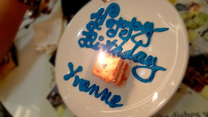 宿霧Buffet101-慶生, 生日蛋糕