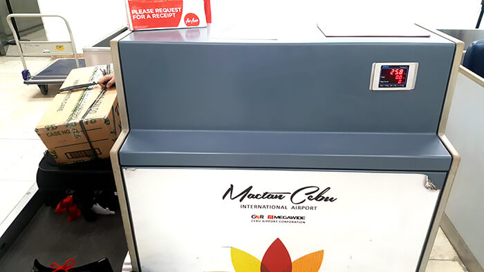 Mactan Cebu機場櫃檯