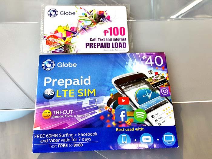 Globa Prepaid, Globa電話卡,網路卡,儲值卡,SIM,4G