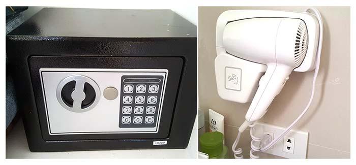 EV學校-房間設備,吹風機,保險箱