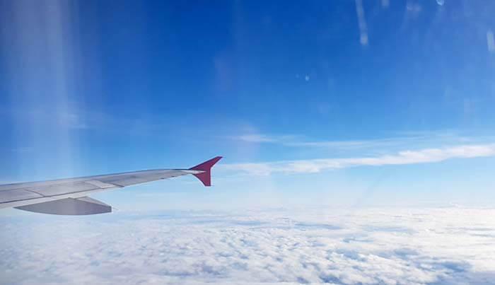 機上視野, 藍天白雲, 坐飛機
