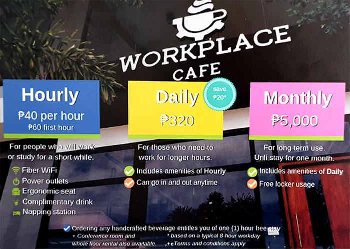 Workplace coffee價目表, 價格計算方式