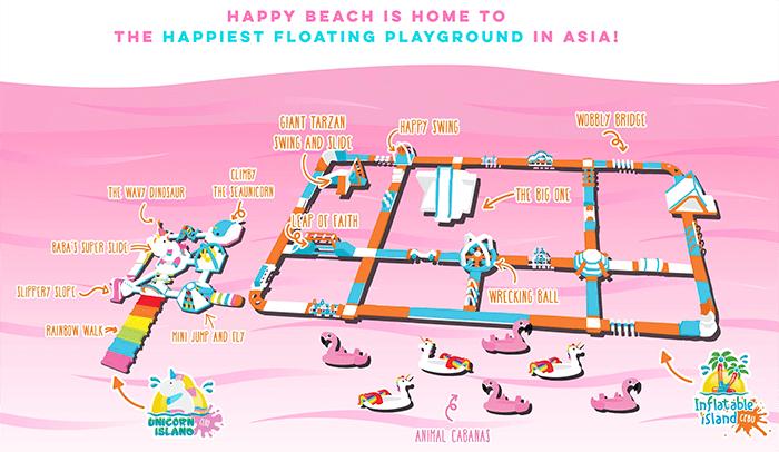 宿霧獨角獸島, inflatable島, 粉紅沙灘樂園