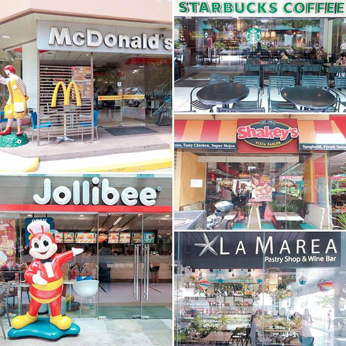宿務IT Park麥當勞, Jollibee, LA MAREA, 星巴克