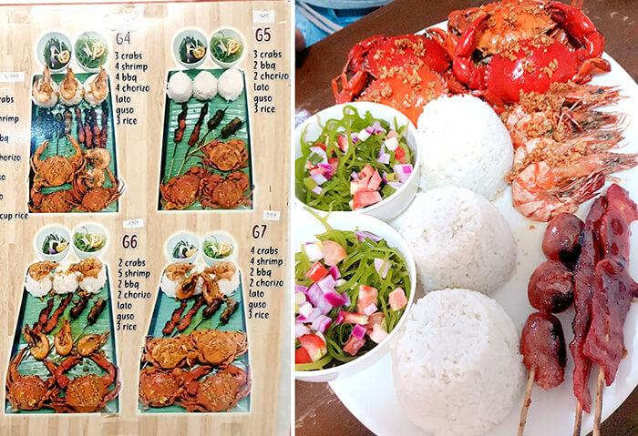 去宿霧吃螃蟹大餐, 螃蟹套餐, 螃蟹, 蝦子, BBQ