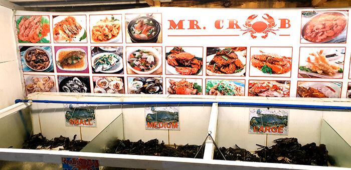 小隻, 中隻, 大隻螃蟹選擇 - Mr. Crab