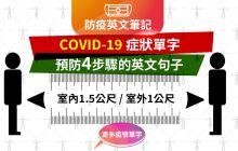 《防疫英文 》COVID-19 各種症狀英文,如何預防傳播 | 英文句子筆記