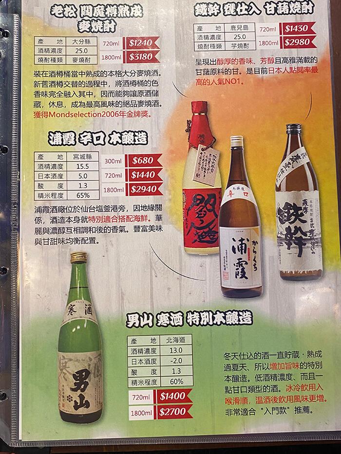 日式燒酒, 生魚丼飯