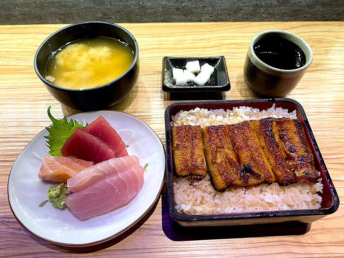 生魚片套餐, 鰻魚飯, 鰻魚飯定食