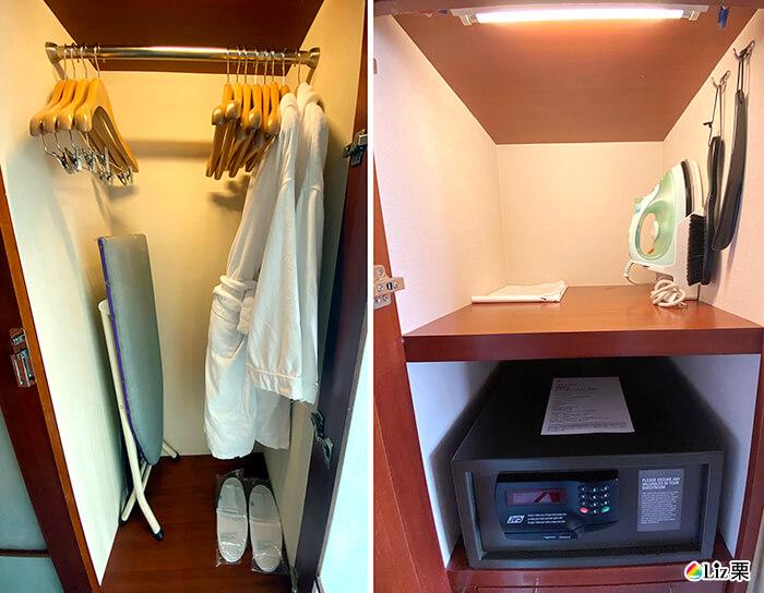 浴袍,熨斗,保險櫃
